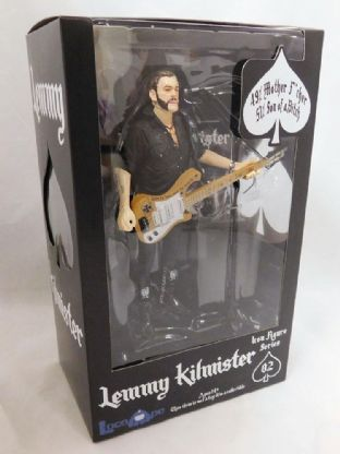 Motörhead Lemmy Kilmister Rickenbacker Guitar Cross Action Figure
